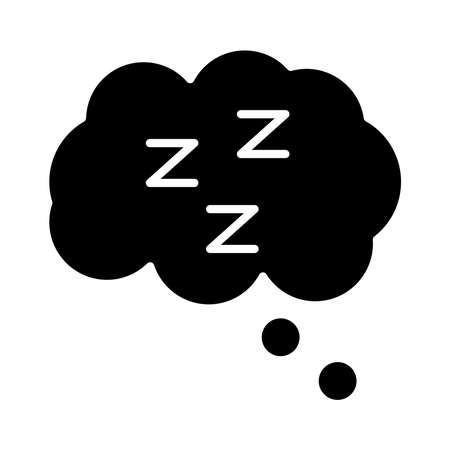 cloud with Insomnia z letters silhouette style icon vector illustration design