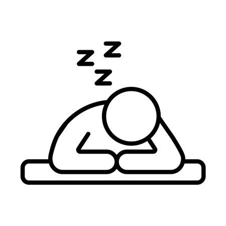 person sleeping with z letters line style icon vector illustration design