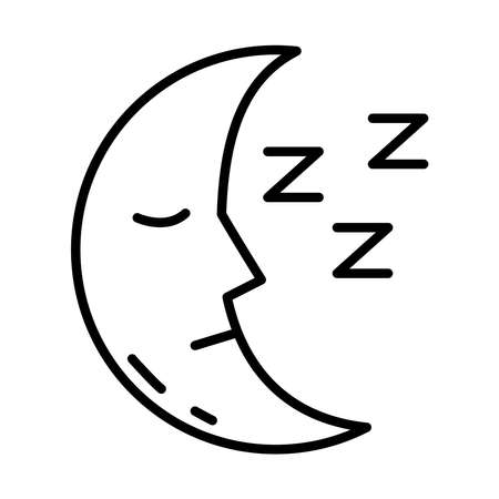 moon and Insomnia letters line style icon vector illustration design