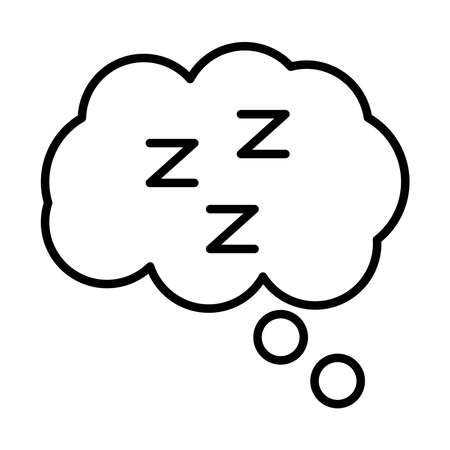 cloud with Insomnia z letters line style icon vector illustration design