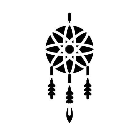 dreams catcher silhouette style icon vector illustration design