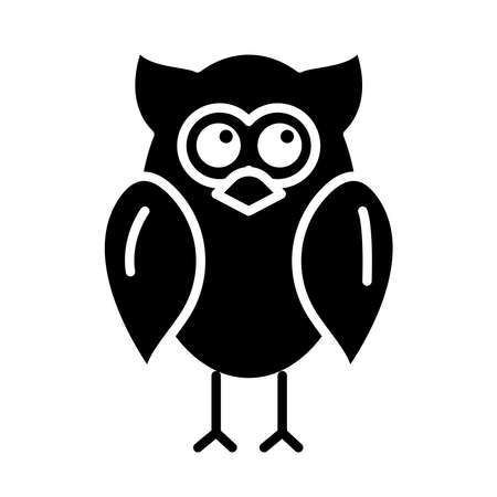 owl animal bird silhouette style icon vector illustration design