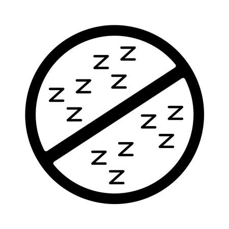 dont sleep signal silhouette style icon vector illustration design