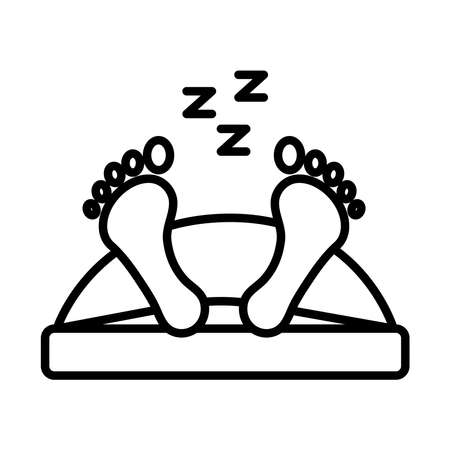 avatar figure sleeping in bed with Insomnia z letters line style icon vector illustration design
