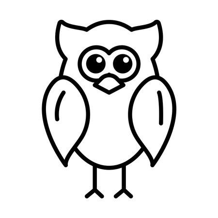 owl animal bird line style icon vector illustration design
