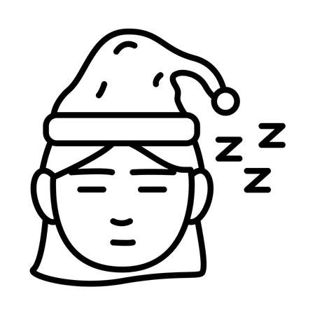 head woman with Insomnia z letters line style icon vector illustration design