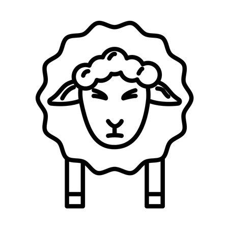 sheep animal line style icon vector illustration design Vectores
