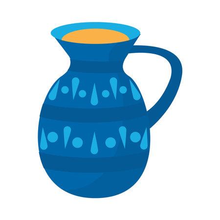 ceramic teapot drink utensil icon vector illustration design
