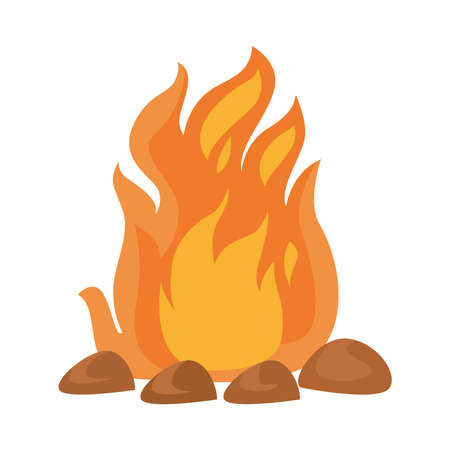 camp fire flame isolated icon vector illustration design Vectores