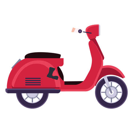 scooter motorcycle vehicle isolated icon vector illustration design