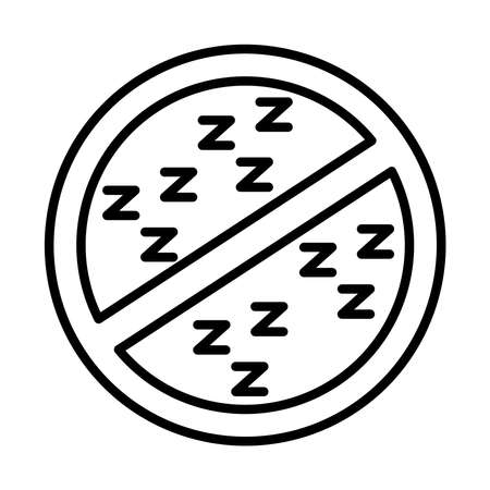 dont sleep signal line style icon vector illustration design Vectores