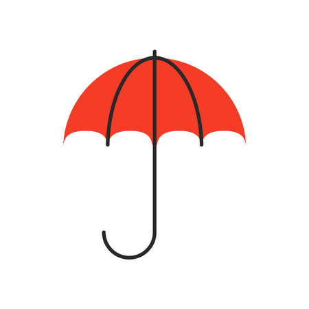 umbrella protection fill style icon vector illustration design