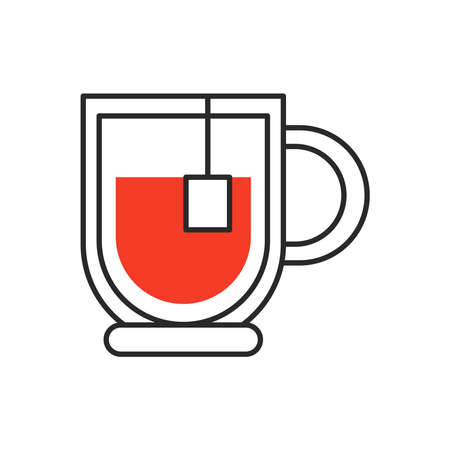 ceramic teacup fill style icon vector illustration design