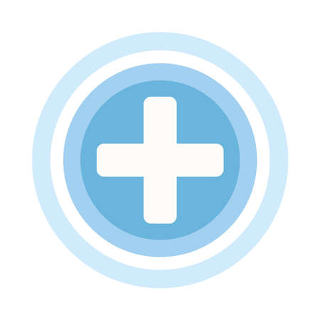 plus symbol button isolated icon vector illustration design  イラスト・ベクター素材