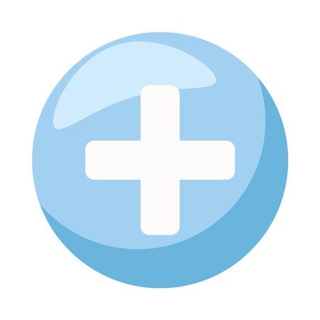 plus symbol in button isolated icon vector illustration design  イラスト・ベクター素材