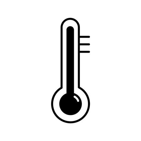 thermometer weather measure line style icon vector illustration design