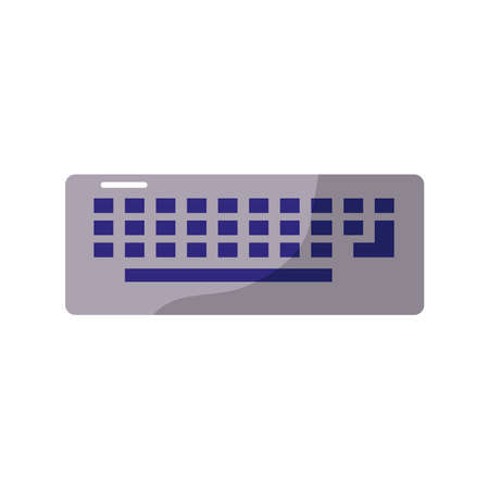 computer keyboard flat style icon vector illustration design Vecteurs