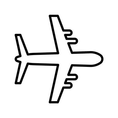 airplane flying line style icon vector illustration design Vektorgrafik