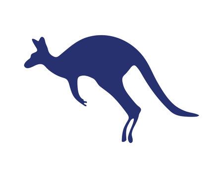 kangaroo jumping silhouette isolated icon vector illustration design  イラスト・ベクター素材