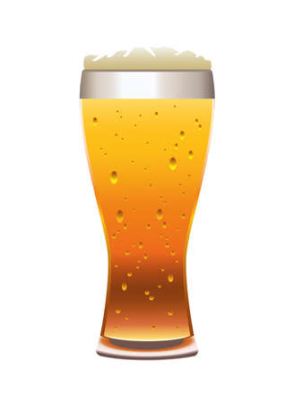 beer drink in glass cup icon vector illustration design