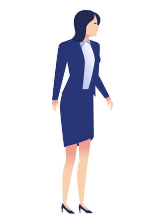 elegant businesswoman worker standing avatar character vector illustration design