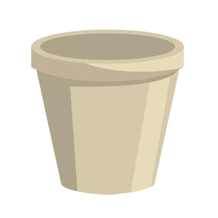 polystyrene pot white isolated icon vector illustration design Vectores