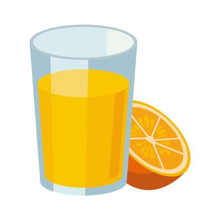 orange juice fruit drink icon vector illustration design
