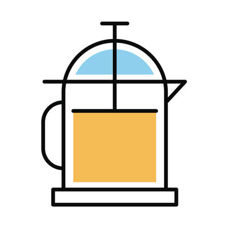 coffee teapot line and fill style icon vector illustration design