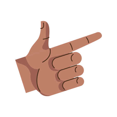 afro hand human gun symbol gesture icon vector illustration design