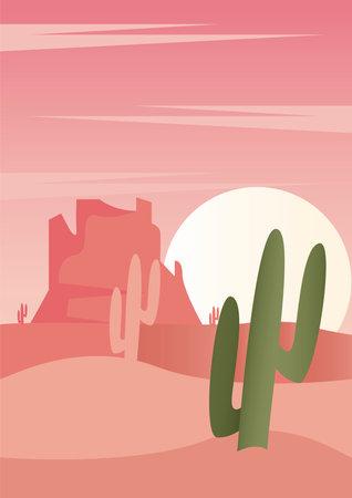 dry desert adventure travel landscape scene vector illustration design