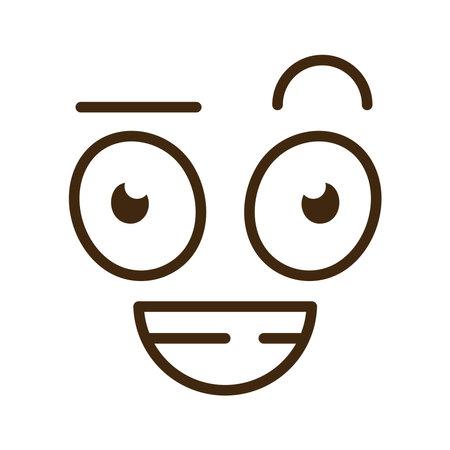 blissful cartoon face emoticon icon vector illustration design