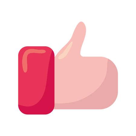 hand like social media icon vector illustration design Ilustración de vector