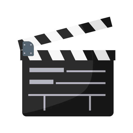 film director clapperboard isolated icon vector illustration design
