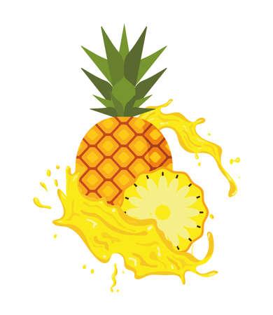pineapple fruit splash juice fresh