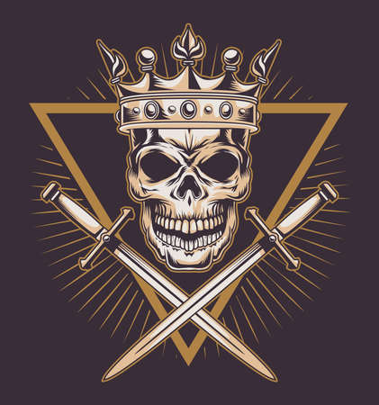 skull with swords crossed icon
