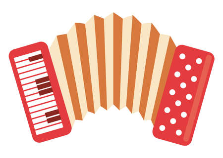 accordion musical instrument isolated icon