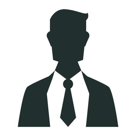 businessman profile silhouette avatar character