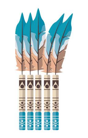 feathers and bamboos boho decoration