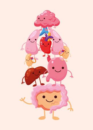 comic pile organs humans icons
