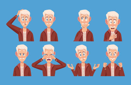 eight old men with alzheimers symptoms