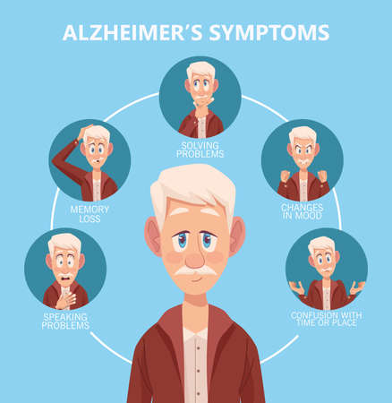 six old men with symptoms alzheimer