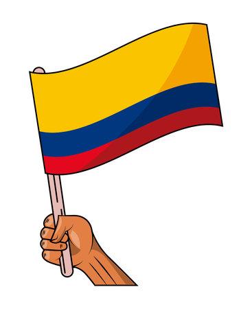 colombia flag waving Vettoriali