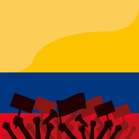 colombian people protesting