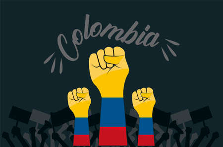 colombians hands fists Vettoriali