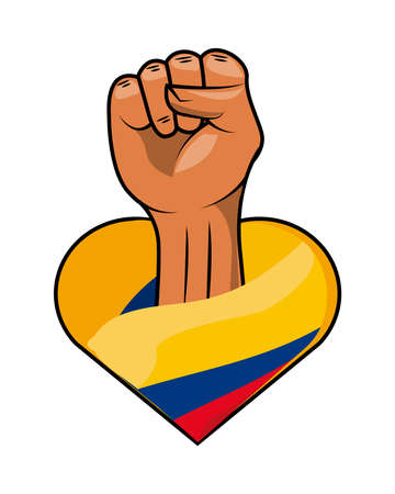 colombia resists fist Vettoriali