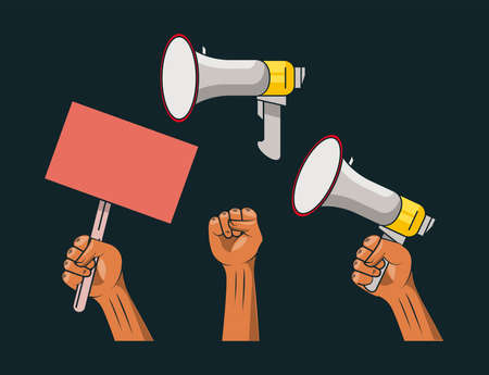 protest set icons