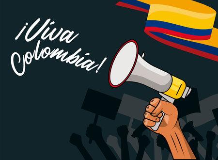 viva colombia poster Vettoriali