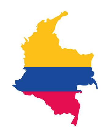 colombian map flag Vecteurs
