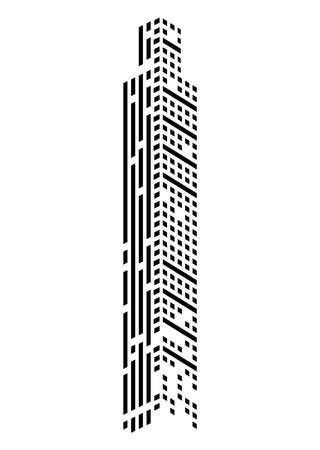 skyscraper monochrome front Vettoriali