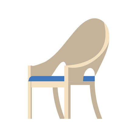 plastic garden chair Vettoriali